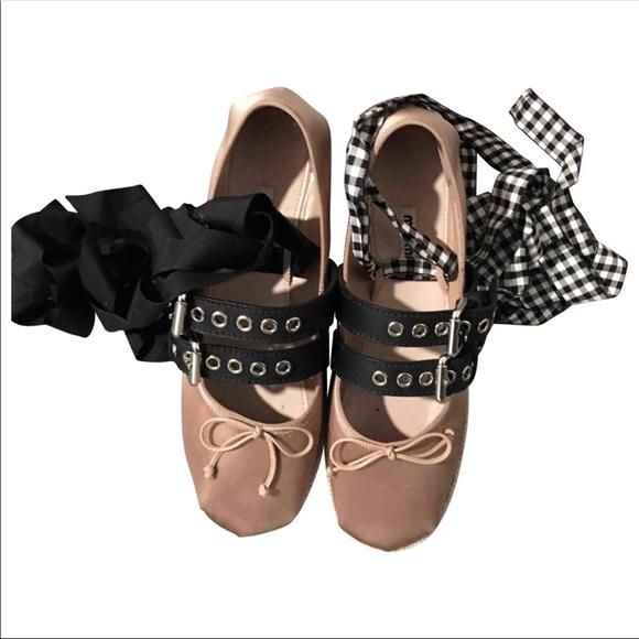 2e0dbf781612 Miu Miu ballerina platform shoes authentic. M 5a736c092ae12f002a7aed86
